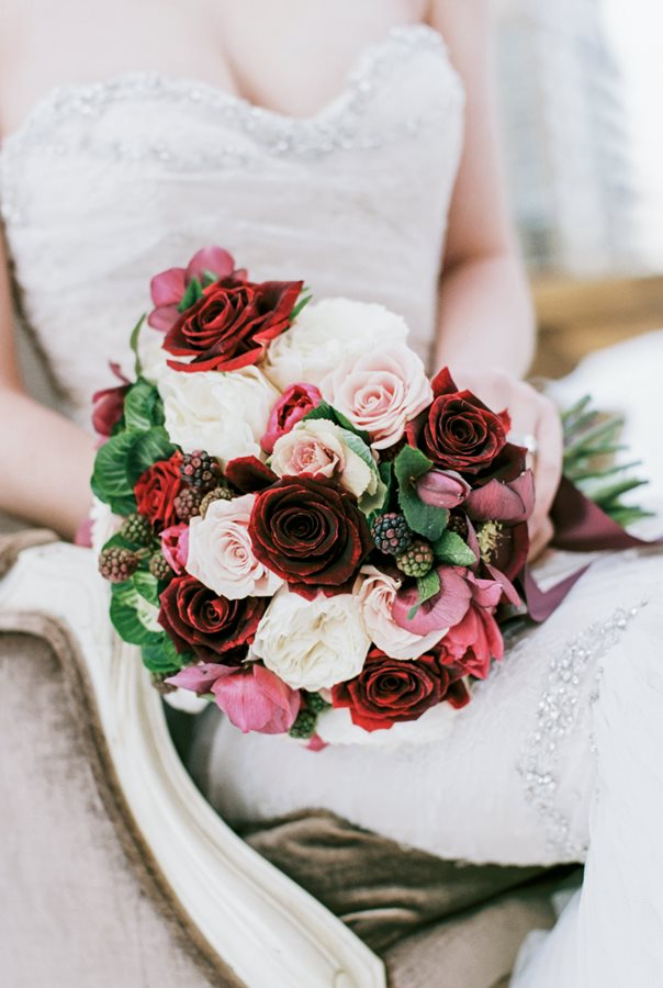 Romantic Carnegie Hall Wedding Bouquet