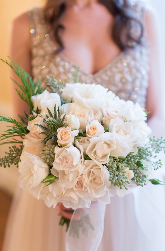 bb6292e380db So excited and happy to have our winter bridal bouquet and centerpiece  featured on Style Me Pretty today on December 27th.